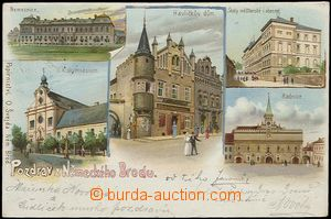 56955 - 1899 Havlíčkův Brod (Německý Brod) - lithography; long