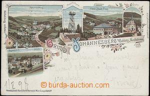 56958 - 1898 JANOV NAD NISOU (Johannesberg) - litografická koláž,