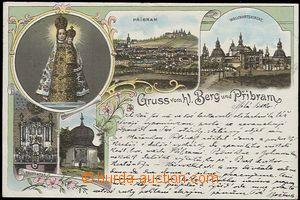 56959 - 1900 Svatá Hora - litografická koláž; DA, prošlá, dobr