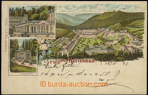 56960 - 1897 Mariánské Lázně  (Marienbad) - lithography, long ad