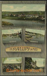 56962 - 1915 Kralupy nad Vltavou - 5okénková, přístav a lázně;