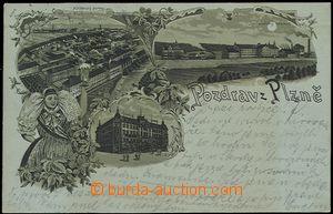 56964 - 1899 Plzeň - lithography, Burgess and Společenský brewery