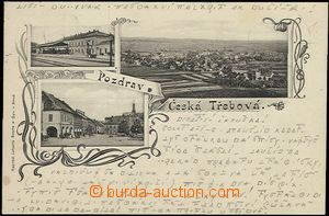 56966 - 1900 Česká Třebová - 3-views, railway-station; long address,