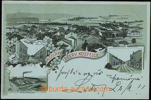 56971 - 1898 ČERVENÝ KOSTELEC - litografická koláž, továrna Á