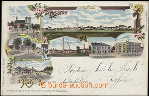 56977 - 1898 Kukleny - litografická koláž, továrna na kůže, po