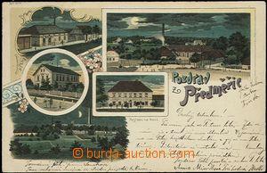 56978 - 1899 Předměřice - litografická koláž, noční pohledy,