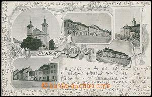 56981 - 1900 Chrast - 5-záběrová koláž, zámek; DA, prošlá, p