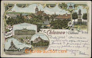 56983 - 1900 Chlumec nad Cidlinou - litografická koláž; DA, proš