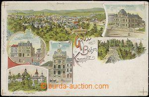 57001 - 1900 Česká Kamenice (Böhm. Kamnitz) - litografická kolá