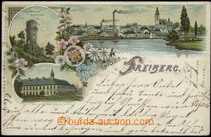 57004 - 1900 Příbor (Freiberg in Mähren) - litografická koláž,