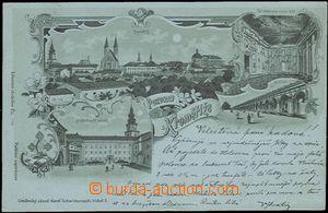 57006 - 1899 Kroměříž - litografická koláž, zelený odstín;
