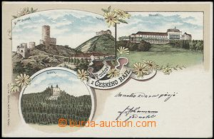 57007 - 1900 Zbiroh - lithography Salute from Czech paradise, castle