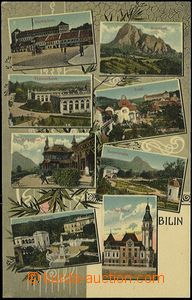 57008 - 1910 Bílina (Bilin) - 8-views, Café-Pavillon; Un, good con