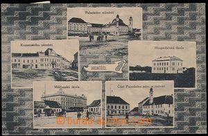 57020 - 1920 Jaroměřice above Rokytnou - 5-views, school, square,
