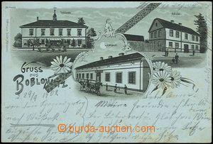 57035 - 1901 Boboluszki (Boblowitz) - lithography, pub, school, cast