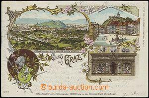 57040 - 1898 Graz - litografická koláž, Franz Plentl - Papier-Han