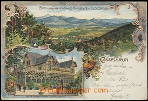 57043 - 1905 Bad Godesberg - View von Cosselsruh, restaurant, lithog