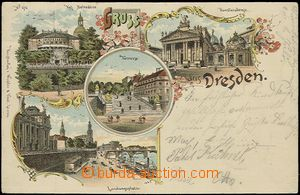 57045 - 1898 Dresden - litografická koláž; DA, prošlá, dobrý s