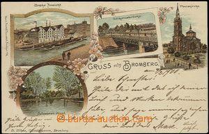 57047 - 1900 Bydgoszcz (deutsch Bromberg) - lithography, port; long
