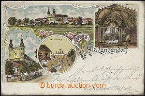 57048 - 1898 Maria Lanzendorf - lithography; long address, Us, oxida
