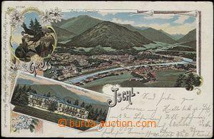 57049 - 1898 Bad Ischl - litografická koláž, Kaiservilla; DA, pro
