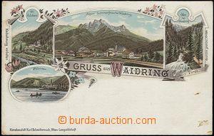 57050 - 1900 Waidring - litografická koláž; DA, nepoužitá, lehk