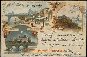 57051 - 1902 Dresden, Meissen, Schloss Scharfenberg - litografická