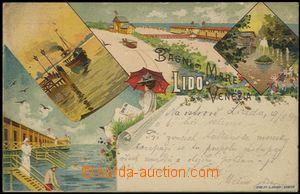 57058 - 1899 Lido di Venezia - litografická koláž; DA, prošlá,