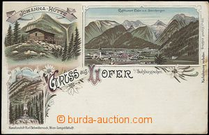 57071 - 1900 Lofer - lithography; long address, Un, repaired tearing
