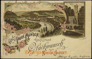 57073 - 1901 Hannoversch Münden - novoroční litografická koláž