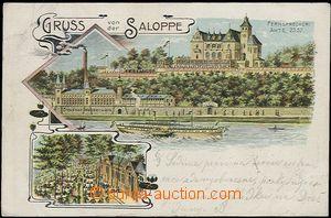 57084 - 1903 Dresden - vodní dílo Saloppe; DA, prošlá, zlomený