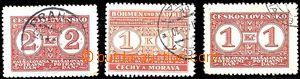 57118 - 1939-41 comp. 3 pcs of stamps Food tax, Pof.PD10B, forerunne
