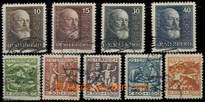 57161 - 1924 Mi.442-446, 494-497, TB Welfare and 10. anniv of republ