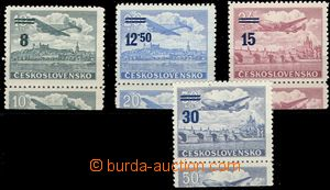 57162 - 1949 Pof.L29-32KD, the bottom coupons air-mail provisional,
