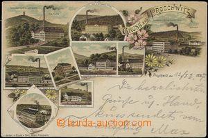 57186 - 1897 Proseč nad Nisou (Proschwitz) - 9-okénková litografi