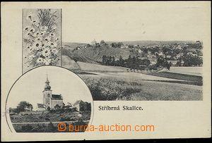57247 - 1906 STŘÍBRNÁ SKALICE - 2-obrázková koláž, kostelík,