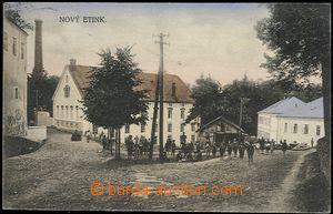 57259 - 1929 NOVÁ VČELNICE (Nový Etink) - village square with peo