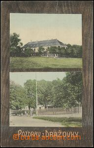 57262 - 1912 Hořovice / Dražovka - 2-views, park, building; Us, go