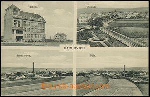 57272 - 1934 Čachovice - 4okénková, škola, pila; prošlá, strž