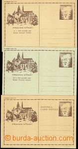 57279 - 1945 CDV73, 73a, 74  comp. 3 pcs of PC košického issue, very