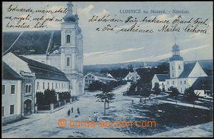 57283 - 1912 Lomnice - náměstí, modrý odstín; prošlá, dobrý