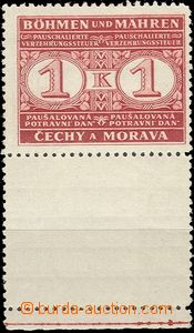 57293 - 1940 Pof.PD1KD stmp Food tax with lower coupon and margin, i