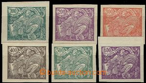 57299 - 1920 Pof.164N-169N, hodnota 400h II.typ, všechny zk. Gi., v