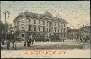 57301 - 1904 Most (Brüx) - náměstí s tramvají, postavy; DA, pro
