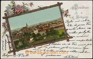 57318 - 1900 Rokycany - one-view collage; long address, Us, wrinkled
