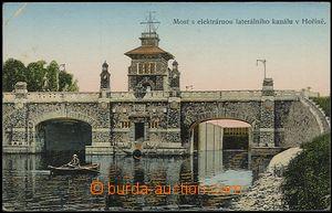 57319 - 1911 Hořín - most s elektrárnou, zlacená; prošlá, zlom