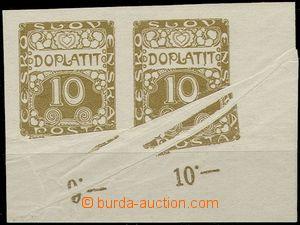 57326 - 1919 Pof.DL2 Ornament, dolní rohová 2-páska s velkými sl