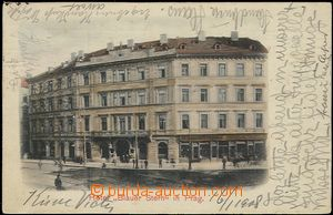 57336 - 1908 Prague - hotel Blue star (Blauer Stern); long address,