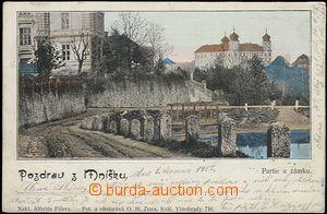 57338 - 1903 Mníšek pod Brdy - okolí zámku; DA, prošlá, lehce