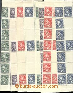 57373 - 1942 Pof.96-99 Hitler, L and right 2-columned bands with mar